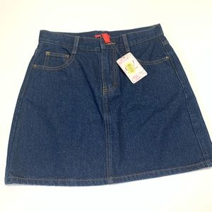 Chelsea and Violet High Waist Denim Mini Skirt
